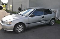 2000 Honda Civic silver Coupé (2 portes)