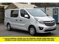 2015 VAUXHALL VIVARO 2900 L1H1 CDTI 6 SEATER DOUBLE CREW CAB SPORTIVE WITH AIR C