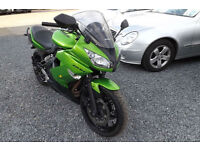 2010 Kawasaki EX 650 DAF ABS SPORTS TOURER 20K FSH 1 OWNER HEATED GRIPS 12M MOT