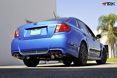 "11-ON Subaru WRX STi Sedan ARK Performance DT-S 3"" Exhaust w/ Polished Tips"