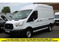 2015 FORD TRANSIT 350/155 L2H3 RARE MWB HIGH ROOF DIESEL VAN WITH AIR CONDITIONI