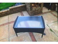 Black Rattan outdoor/indoor Table