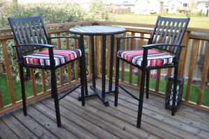 BRAND NEW BAR HEIGHT  3 PIECE PATIO TABLE SET