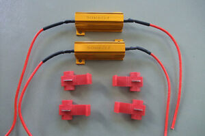 Car LED DRL Fog Turn Signal Load Resistor, 50W 6Ohm resistor.