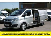 2014 FORD TRANSIT CUSTOM 290/125 LIMITED L2H1 LWB IN SILVER WITH ONLY 37.000 MIL