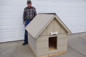 DOG HOUSE,  NEW,  3 X 4, FULLY  INSULATED