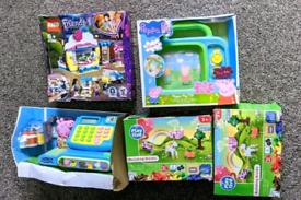 NEW Lego friends Peppa pig cash register tv