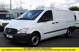 2014 MERCEDES VITO 116CDI X-LONG DIESEL VAN IN WHITE WITH AIR CONDITIONING,SOLID