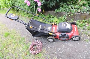 Homelite 20 Inch Electric Mower - New Condition with 100 ft Cord