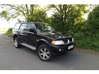 2005 55 Mitsubishi Shogun Sport 2.5TD Warrior DIESEL 4X4 92K FSH FULL LEATHER AC