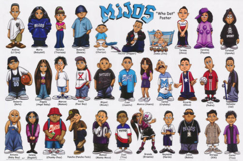 "POSTER : CARTOON : MIJOS ""HOMIES"" - WHO DAT POSTER- FREE SHIPPING  #2763  RAP2 C"