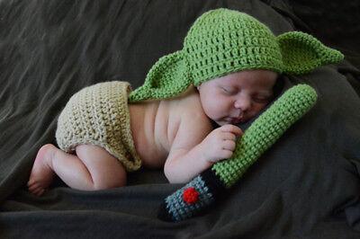 Baby YODA Star Wars Jedi Junge Kostüm Foto Shooting Dekoration 62 68 3-6 - Baby Jungen Star Wars Kostüm