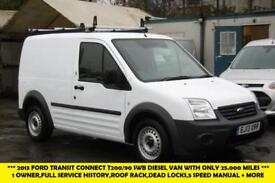 2013 FORD TRANSIT CONNECT T200/90 SWB DIESEL VAN WITH ONLY 25.000 MILES,1 OWNER,