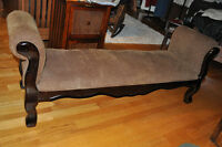 Long Upholstered Chaise Bench