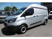2015 FORD TRANSIT CUSTOM 290/125 L2H2 LWB HIGH ROOF IN METALLIC SILVER WITH ONLY