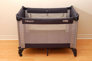 Graco playpen, portable highchair, table booster seat