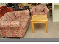 XMAS SALE NOW ON!! - Compact 2 Seater Sofa And Armchair - Can Deliver For £19