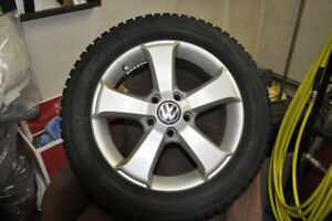 Snow tires and aluminum rims for VW