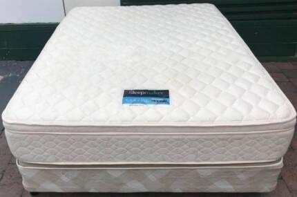 Excellent Sleep Maker Brand Pillow Top queen mattress with Base