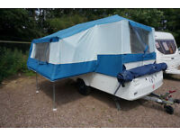 STUNNING 2005 PENNINE FIESTA 4 PLUS BERTH FOLDING CAMPER - KITCHEN - AWNING -