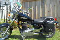 2007 Suzuki Boulevard 650  with  bags and clear fairing