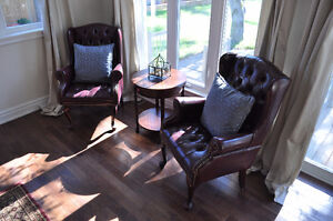 2 High Back Leather Chairs