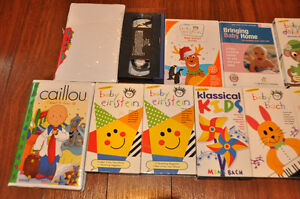 Assorted childrens VHS and some DVD's