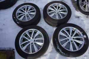 225/55/17 BRIDGESTONE POTENZA SUMMER TIRES WITH MAGS & SENSORS