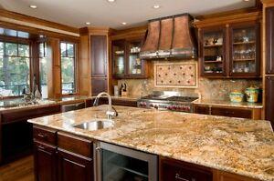 refaing armoire cuisine,comptoir granite sur mesure