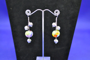 Murano fish hook earrings with 9.25 Sterling Accents
