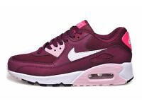 Women`s Air Max 90 Wine/White/Pink Nike Shoes UK 4