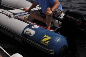 Zodiac 10 ' Inflatable Boat - with 15 HP Mercury motor