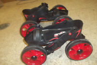 4 wheel-Roller blades, Skateboards etc..By owner
