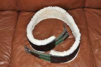"Custom made Leather Girth removable sheepskin 56"""