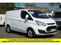 2015 FORD TRANSIT CUSTOM 290/125 LIMITED L1H1 LWB IN WHITE WITH SAT NAV,AIR COND