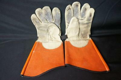 Salisbury Leather Protector Gloves Size 8-8.5 16 Ilp-7c Used