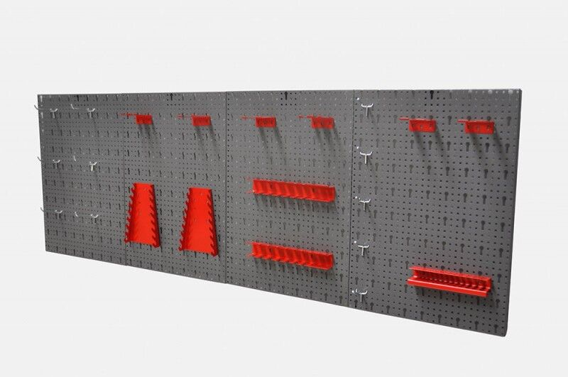 XXL Werkzeugwand Lochwand Werkstattwand Werkstatt mit Hakensortiment 22 Teile