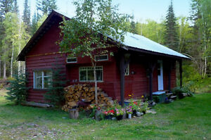 Lovely Hunting/Fishing Cabin on 3.29 acres near Horsefly River