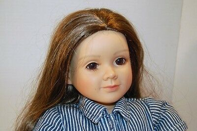 """My Twinn Doll 23""""  Brown Hair & Brown Eyes Posable Body with orig.clothes"""