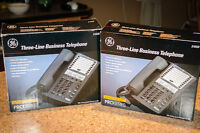 2 GE 3-Line Business Phones with 2 Caller ID units