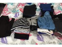 Maternity clothes pile