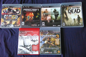 PS3 PLAYSTATION GAMES-STREET FIGHTER,WALKING DEAD,CALL OF DUTY +