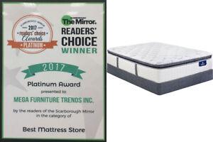 Mattress Sale - High Density ,Memory Foam, Pillowtop Mattress