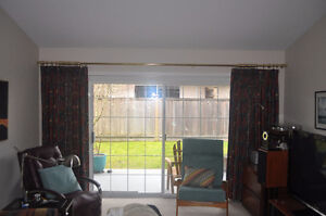 Large set living room drapes with rod and drawstring - REDUCED!