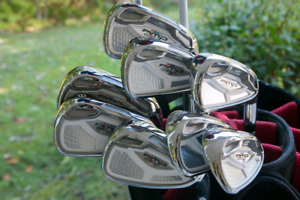 Cobra amp cell irons, putter and matching bag