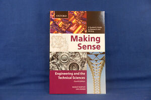Making Sense Engineering And the Technical Sciences 4th Ed NEW