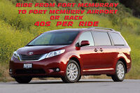 Ride by large van to Fort McMurray Airport  or back $40 only.