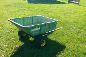 John Deere Lawn Trailer- Gnomes not included
