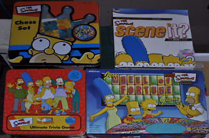 4 SIMPSONS games, SCENE IT?, trivia, CHESS, Wheel of Fortune