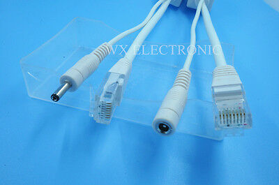 Power over ethernet passive POE injector/splitter for Foscam 1.35X3.5mm (Poe Injector Splitter Foscam)